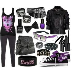 Falling in reverse clothes band merch that i want in 2019 emo kleren, emo, Cute Emo Outfits, Outfits For Teens, Girl Outfits, Stylish Outfits, Band Outfits, Scene Outfits, Biker Outfits, Batman Outfits, Rock Outfits