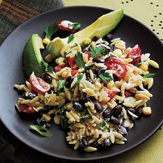 Orzo Salad with Spicy Buttermilk Dressing | This tasty and colorful Orzo Salad gets a spicy kick from its Buttermilk Dressing which includes chili powder and ground red pepper.