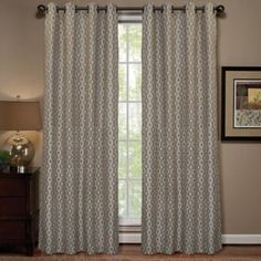Prism Rod Pocket Sheer Window Curtain Panel In Natural