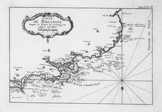 Coste de Bretagne depuis la pointe de Landegavan jusqu'à Aberilduc.    Auteur : Bellin, Jacques-Nicolas (1703-1772) Date : 1764  Taille : 1724x1196 (0.4 MO)  Origine : BNF