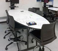 KI - Whiteboard table with Srtive Seating