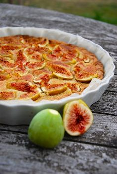 tarte aux figues creme amande Ma folie douce   Tarte aux figues à la crème damande & Pâte mi brisée mi sablée