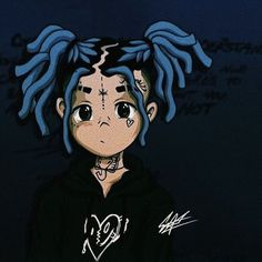 xxxtentacion - anime four Dope Cartoon Art, Dope Cartoons, Arte Dope, Dope Art, Black Anime Characters, Rapper Art, Rap Wallpaper, Black Art, Cute Wallpapers