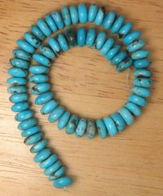 7mm-Rondelle-Chinese-Tourquoise-Loose-Beads-8inch-strand-Craft-Gemstone-E14
