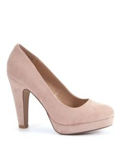 Oatmeal Platform Court Shoes - I have been waiting for NL to do these shoes for ages and they have done them so i just had to buy them. Got them in black and red too. <3 them so comfy to walk in on nights out