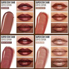 Mac Lipstick Shades, Lipstick For Dark Skin, Liquid Lipstick, Mac Lipstick Colors, Sexy Makeup, Kiss Makeup, Love Makeup, Beauty Makeup, Maybelline Superstay Lipstick