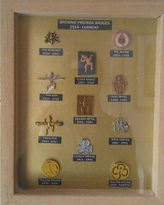 Display of Brownie Guide Promise badges from Broneirion TAC