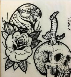 Rose Tattoos, Black Tattoos, Body Art Tattoos, Sleeve Tattoos, Tattoo Designs, Tattoo Design Drawings, Tattoo Sketches, Tattoo Flash Sheet, Tattoo Flash Art