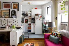 New York Studio Apartment Tour: A Small, Colorful Home New York Studio Apartment, Small Studio Apartments, Design Apartment, Studio Apartment Decorating, Apartment Interior, Apartment Therapy, Studio Apartment Furniture, Studio Apartment Layout, Modern Apartments