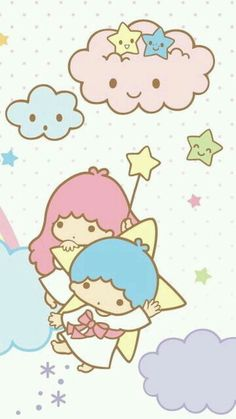 Sanrio Little Twin Stars Wallpaper My Melody Wallpaper, Sanrio Wallpaper, Star Wallpaper, Hello Kitty Wallpaper, Kawaii Wallpaper, Cute Wallpaper Backgrounds, Cute Wallpapers, Little Twin Stars, Little Star