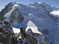 Mont Blanc, Chamonix, France. Highest mountain in Europe. Also one of best place in the world for freeride skiing, snowboarding and so on. A real wild place. Photo : Thierry Seray