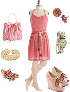 """Mod Candy Striping"" by boltzkl on Polyvore"