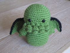 Cthulhu the Elder god - Green Amigurumi medium size crocheted stuffed plush toy - Lovecraft inspired on Etsy, $19.86