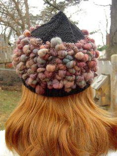 sophisticated coils handspun art yarn knitted hat kit by TreasureGoddessChic, via Flickr