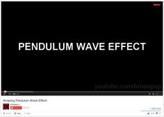 """""""Pendulum Wave Effect"""" video, #fourthgrade #science #waves #instructionalmaterials"""