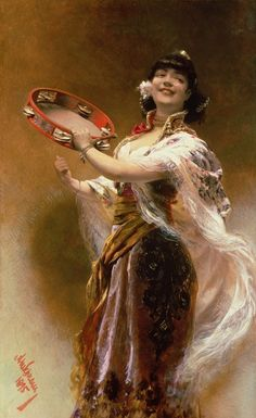 """ Gypsy Girl With a Tambourine"" → Alois Hans Schram"