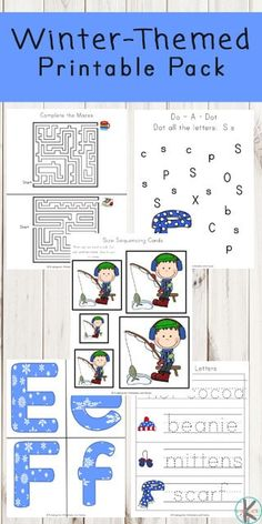 FREE Winter Printable Pack - these free winter worksheets for toddle, preschool, kindergarten and first grade are a fun way for kids to practice math, literacy, alphabet, and key vocabulary with a fun theme. #wintertheme #worksheetsforkids #preschool #kindergarten #firstgrade #kindergartenworksheets #preschoolworksheets #free Kindergarten Math Worksheets, Worksheets For Kids, Kindergarten Activities, Math Literacy, Snow Activities, Kindergarten Teachers, Meeting Book, Winter Words, Winter Theme