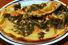Slow-Carb Breakfast Recipe: Personal Pan Ham and Kale Fritata
