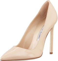 Manolo Blahnik BB Patent 115mm Pump, Nude like Olivia Pope wore on SCandAL