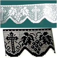 Risultati immagini per Lily altar filet crochet Filet Crochet, Crochet Lace Edging, Crochet Borders, Crochet Cross, Crochet Stitches Patterns, Crochet Bunny, Crochet Chart, Thread Crochet, Crochet Trim