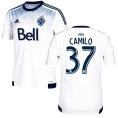 Camilo 37 Vancouver Whitecaps FC 2016/17 Home Soccer Jersey Deep Sea White
