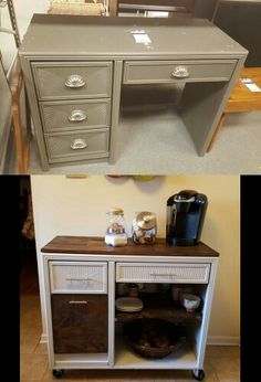 31 ideas diy desk upcycle kitchen islands for 2019 - Dıy Desk Table Ideen Bar Furniture, Refurbished Furniture, Repurposed Furniture, Furniture Projects, Furniture Makeover, Rustic Furniture, Antique Furniture, Modern Furniture, Furniture Removal
