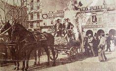 23 de mayo de 1910. Carroza alegórica que .precedía a la manifestación de los estudiantes