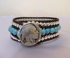 I LOOOOVE Turquoise!!! Adore the buffalo nickel button!