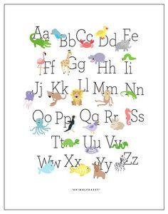 Alphabet Poster capital & lowercase letters 11x17 by doublejones, $14.00