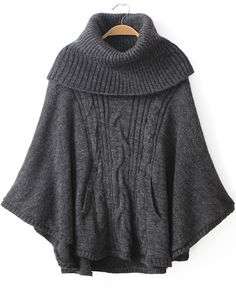 Shop Grey High Neck Long Sleeve Cable Knit Loose Sweater online. Sheinside offers Grey High Neck Long Sleeve Cable Knit Loose Sweater & more to fit your fashionable needs. Free Shipping Worldwide!