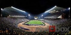 Panorama of the last game at Husky Stadium before renovation!