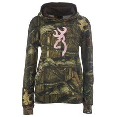 Browning women's mossy oak infinity camo hoodie with buckmark