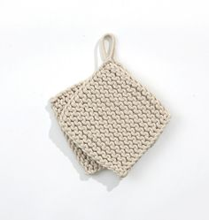 Knitted Potholders, material: cotton rope