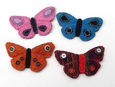 Felt Butterfly Brooch