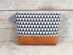 """Schminktäschchen - Tasche - Etui Dreiecken """"MONA"""" - ein Designerstück von Miyas-Accessoires bei DaWanda"""