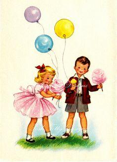 Its My Party Vintage Digital Download by poshtottydesignz on Etsy, $1.00