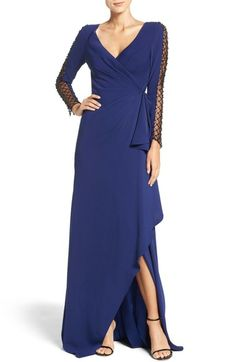 Pamella, Pamella Roland Beaded Mesh & Crepe Gown available at #Nordstrom
