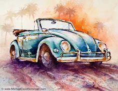 California Convertible - painting by Michael David Sorensen