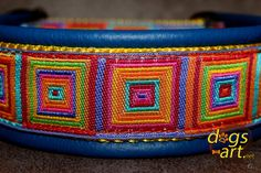 dogsart CRAZY Martingale Leather Collar  by dogsartcollars on Etsy, $32.00