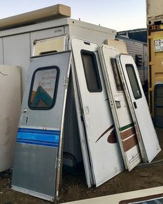 60 best salvage rv parts into something new images rv - Used exterior doors for sale near me ...