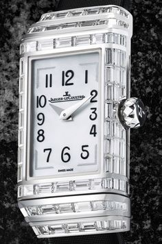 Jaeger-LeCoultre Reverso One High Jewelry Ladies Watch Jaeger Lecoultre Reverso, Jaeger Lecoultre Watches, High Jewelry, Silver Jewelry, Most Popular Watches, Watch Blog, Square Watch, Watch Brands, Cool Watches
