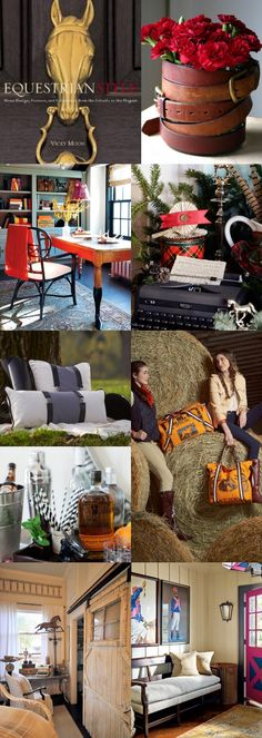 Atta Girl Says   Equestrian Style Decorating and Fashion Inspiration   http://www.attagirlsays.com
