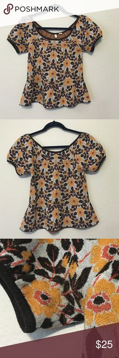 Moth Anthropologie Peplum Wool Top EUC. Moth by anthro wool peplum top. Looks super cute on! The sleeves have a round shape to them but are not too puffy. No holes just light signs of wear around the armpits. Anthropologie Tops Blouses