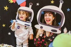 Nasa Party, Happy Party, Space Theme, 2nd Birthday Parties, Baby Birthday, Fiesta Galactica, Astronaut Party, Disney Pixar, Outer Space Party