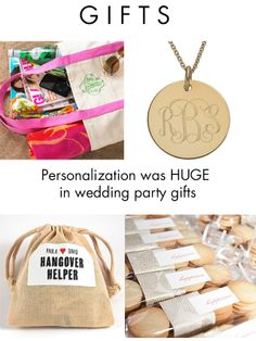Personalization was HUGE in 2013 for wedding party gifts and favors
