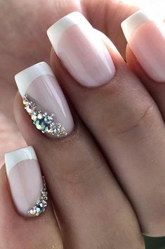 We have collected temeless ideas of pink and white nails, which enchantingly complete the image of bride. Enjoy the ideas in our gallery! Wedding Nails For Bride Natural, Wedding Bride, Cinderella Wedding, Wedding Ideas, Forest Wedding, Wedding Makeup, Wedding Shoes, Fall Wedding, Wedding Favors