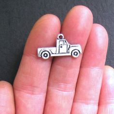 8 Truck Charms Antique Tibetan Silver Tone by BohemianFindings, $2.50