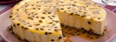 Receita de Torta-Mousse de Maracujá