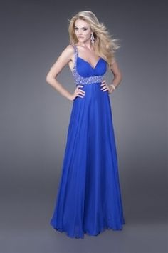 royal blue to silver fade prom dress