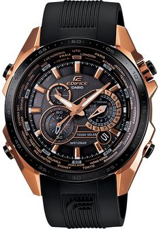 Casio Edifice Black X Rose Gold EQS500CG-1A